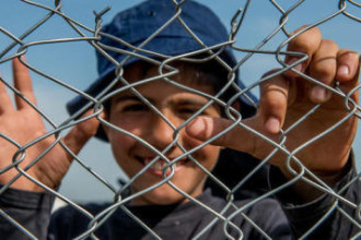 07/042016 Idomeni, campo per migranti, 12 000 rifugiati rimasti in un limbo nella città di confine in attesa che la Comunità Europea prenda decisioni in merito