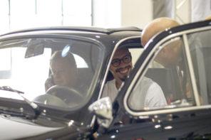 Marek Hamsik e la sua 500 al Napoli Motorshow